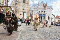 Máscara del carnaval de los kurents de Ptuj Imagen de archivo