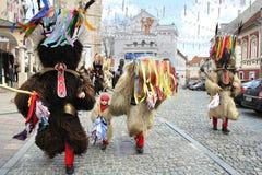 Máscara del carnaval de los kurents de Ptuj Foto de archivo libre de regalías