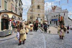 Máscara del carnaval de los kurents de Ptuj Imagenes de archivo