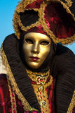 Máscara del carnaval de Venecia Foto de archivo libre de regalías