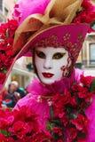 Máscara del carnaval de Venecia - señora rosada Fotografía de archivo libre de regalías