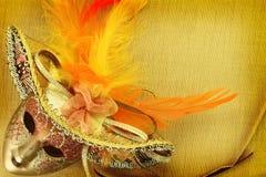Máscara del carnaval del vintage Fotografía de archivo libre de regalías