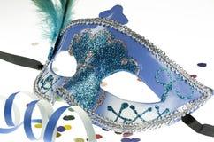 Máscara del carnaval en blanco Imágenes de archivo libres de regalías