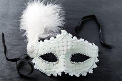 Máscara del carnaval en fondo negro Fotos de archivo libres de regalías