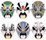 Máscara del facial de la ópera de Pekín Fotografía de archivo libre de regalías