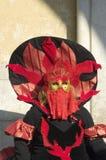 Máscara del fuego rojo Foto de archivo