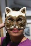 Máscara del gato imagen de archivo libre de regalías