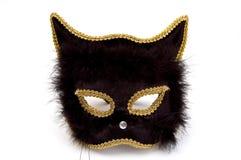 Máscara del gato negro Fotos de archivo libres de regalías
