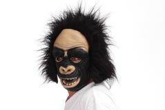 Máscara del gorila Foto de archivo libre de regalías