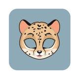 Máscara del guepardo para las diversas festividades, partidos stock de ilustración