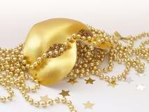 Máscara del oro Fotografía de archivo