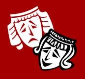 Máscara del teatro stock de ilustración