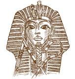 Máscara del tutankhamon del oro ilustración del vector