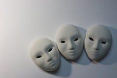 Máscara del yeso en estudio Imagen de archivo