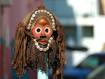 Máscara del Zulú Foto de archivo