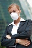 Máscara desgastando da mulher de negócios Fotos de Stock Royalty Free