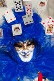 Máscara do azul do palhaço Fotos de Stock