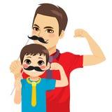 Máscara do bigode da criança do homem ilustração stock