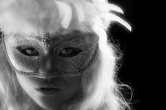 Máscara do Bw foto de stock royalty free