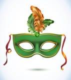Máscara do carnaval com ilustrações do vetor das penas ilustração royalty free