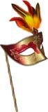 Máscara do carnaval com penas Imagem de Stock