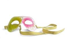 Máscara do carnaval em um fundo branco Fotografia de Stock