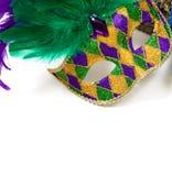 Máscara do carnaval em um fundo branco Fotos de Stock