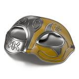 Máscara do carnaval na ilustração 3D branca ilustração royalty free