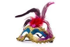 Máscara do carnaval no fundo claro Fundo para imagem de stock royalty free