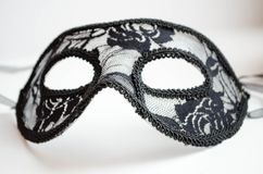 Máscara do carnaval ou do teatro isolada no branco imagem de stock royalty free