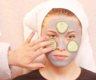 Máscara do cinza do pepino imagens de stock royalty free