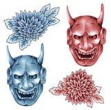 Máscara do demoness ilustração stock
