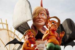 Máscara 2014 do diabo do carnaval Imagens de Stock Royalty Free
