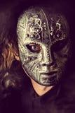 Máscara do ferro fotografia de stock royalty free