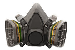 Máscara do gás e de poeira imagens de stock royalty free