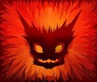 Máscara do inferno ilustração stock