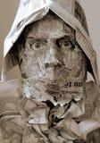 Máscara do jornal Foto de Stock