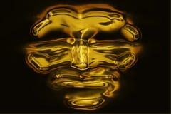 Máscara do ouro Imagem de Stock Royalty Free