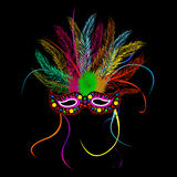 Máscara do partido da grama de Mardi Foto de Stock Royalty Free