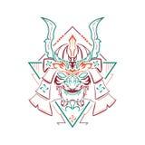 Máscara do samurai de Kabuto ilustração stock