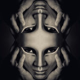 Máscara doble Imágenes de archivo libres de regalías
