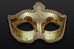 Máscara dourada fotos de stock royalty free