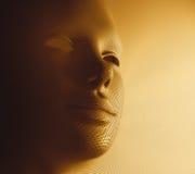 Máscara dourada Foto de Stock Royalty Free