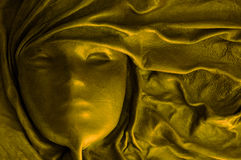 Máscara dourada Fotografia de Stock Royalty Free