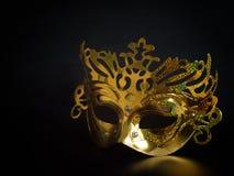 Máscara dourada, fantasia Foto de Stock Royalty Free