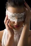 Máscara e laço branco Fotos de Stock
