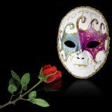 A máscara e levantou-se Imagem de Stock Royalty Free