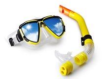 Máscara e snorkel Fotografia de Stock Royalty Free