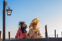 Máscara e trajes do carnaval de Veneza Traitional Veneza, Italy Foto de Stock