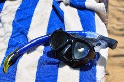 Máscara e tubo de respiração Fotografia de Stock